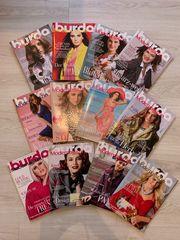 Nähzeitschrift Nähmagazin Burda Ausgaben 01-12