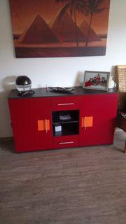 Wohnzimmergarnitur mit Ledercouch ausziehbar