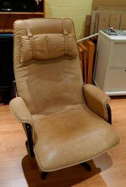 Bequemer Sessel aus Büffelleder zum