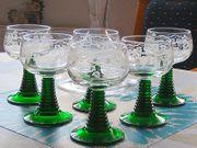 Römerwein-Gläser mit Dekanter