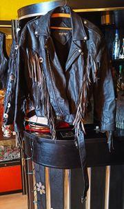 Motorrad Lederjacke der Marke Rock