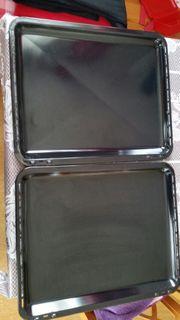 2 Kuchenbleche 37x45x3 cm -NP