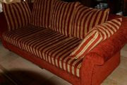 4-teilige Couchgarnitur rot Sofa Sessel