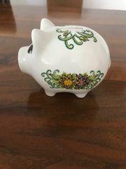 Schönes Sparschwein aus Porzellan Keramik