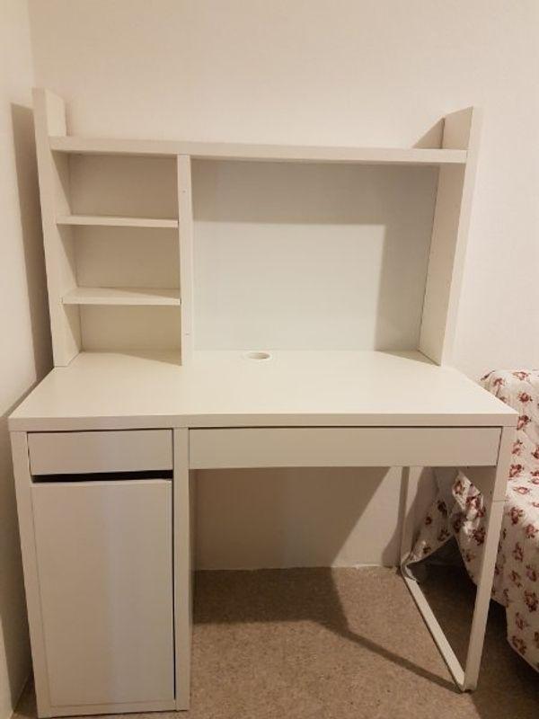 Schreibtisch Micke Ikea Weiß 150x50cm Drehstuhl In Hamm Ikea