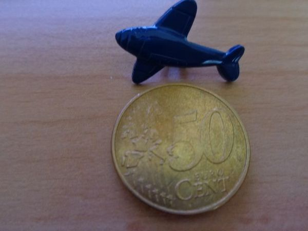 Knöpfe für Kinder Flugzeug dunkelblau