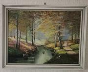 Ölgemälde Landschaft von J Muhr