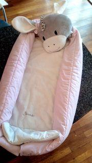 Baby-Spieldecke Sternthaler grau weiß rosa