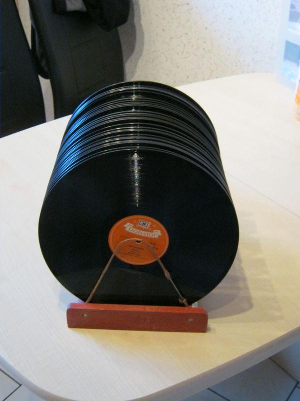 Alte Schallack-Schallplatten aus den 50er