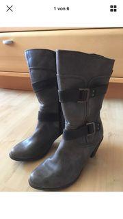 Neue Stiefel Gr 39 grau
