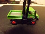 Wiking modellauto Bauwagen unimog Grün