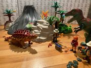 Playmobil Vulkan mit Dinos