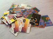 Mehr als 100 Stück Telefonkarten