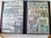Briefmarkenalbum mit 16 Seiten voll