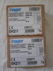 2 Stück Hager Tagesschaltuhr EH211
