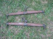 2 Stück alte Deichsel Wagendeichsel