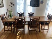 Esstisch und 10 Stühle
