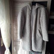 Damen Teddyplüsch-Jacke mit Kapuze und