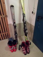 2 Ski und Skischuhe