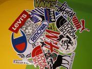 20 Aufkleber Marken Logo Sticker
