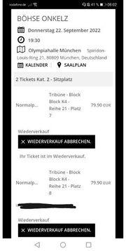 2x Sitzplatz in München 22