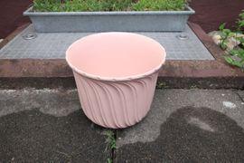Sonstiges für den Garten, Balkon, Terrasse - Verkaufe 3 Blumentöpfe Keramik rosa