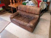 Couch 2 Sitzer aus Buffelleder