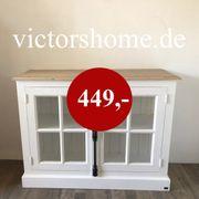 Landhauskommode Sideboard Sprossenfenster B 117