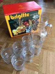 Sangria Krug Karaffe 6 Gläser