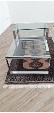 1 aussergewöhnlichen Lifestyle-Glastisch 120x60x35cm