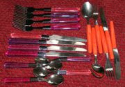 6x Kinderbesteck Messer Gabel Löffel
