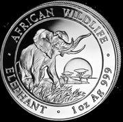 1 oz Somalia Elefant 100