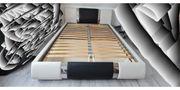 Polsterbett Lederlook 160 x 200cm