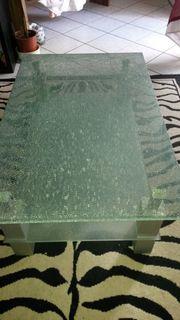 Wohnzimmer Tisch aus Glas