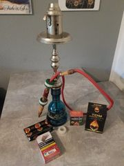 Shisha Traditionell mit Steckbowl Windschutz