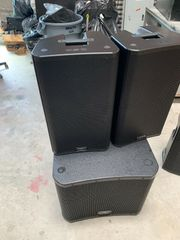 QSC KW181 Subwoofer und Speaker
