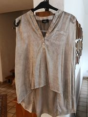 Kombinierfreudige Cold-dye-Bluse ohne Ärmel Gr