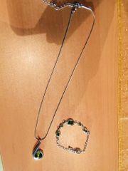 Halskette und Armband in Edelstahl