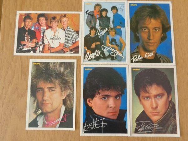 Bravo - Autogrammkarten 6 Stück ca