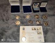 Silber Medaillen 9 stück