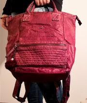 Handtasche Rucksack - Sansibar - bordeaux rot