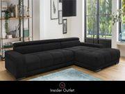 XL - Ecksofa Grau 312x184 cm