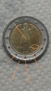 2 euro münze mit Fehlprägung