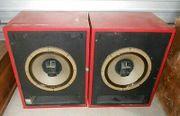 Vintage Altec Big Red Studio-Monitore