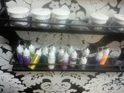UV diverse farblake mit glitzer
