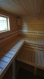 Sauna für Weihnachten Gartensauna Saunahaus