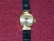 YEMA Damenuhr Gold-Doublé 17 Steine