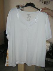 Größe 5XL Weißes T-Shirt mit
