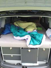 VW Touran VanEssa Mobilcamping Schlaf-