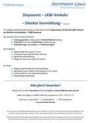 Disponent - LKW-Verkehr - Direkte Vermittlung - m